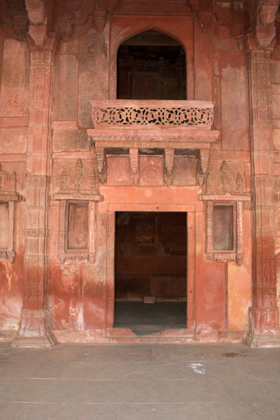 Fatehpur Sikri, Agra, India. Agra, Uttar Pradesh / India - February 7, 2012 : An architectural interior view of the Jodhabai palace in Fatehpur Sikri, Agra. jodha bai's palace stock pictures, royalty-free photos & images