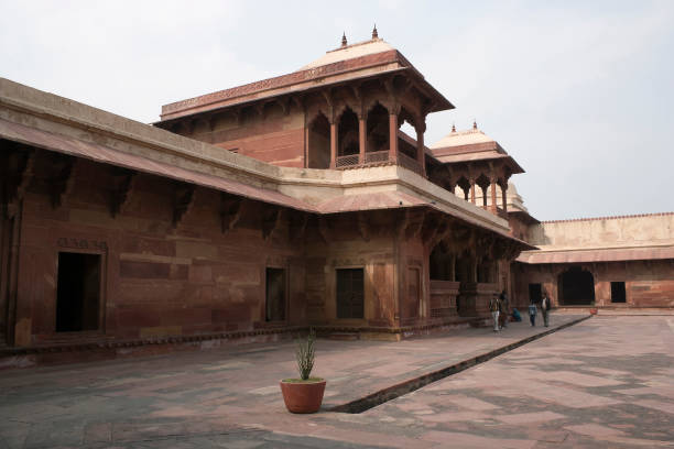 Fatehpur Sikri, Agra, India. Agra, Uttar Pradesh / India - February 7, 2012 : An architectural exterior view of the Jodhabai palace in Fatehpur Sikri, Agra. jodha bai's palace stock pictures, royalty-free photos & images