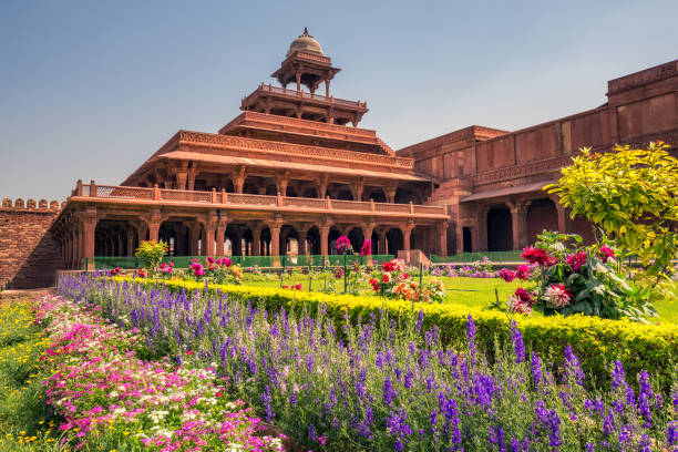 Fatehpur Sikri city Antient abandoned city of Fatehpur Sikri n the Agra District of Uttar Pradesh, India. agra stock pictures, royalty-free photos & images