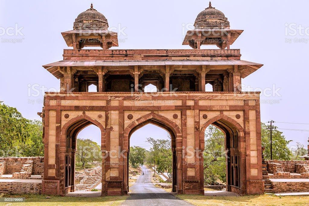 Fatehpur Sikri fort stock photo