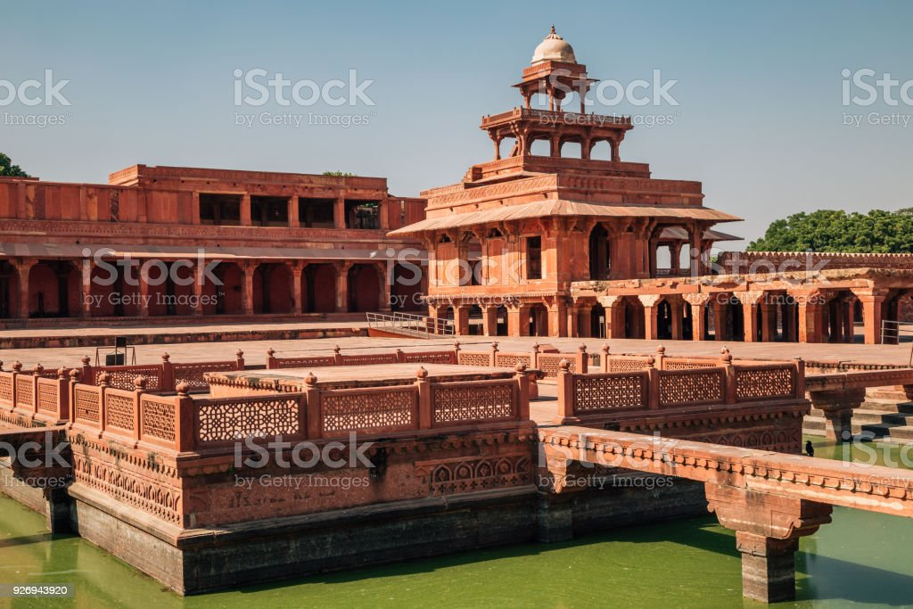 Fatehpur Sikri Unesco World Heritage Site In India Stock ... on istanbul map world, new delhi map world, great wall of china map world, india map world, mumbai map world,