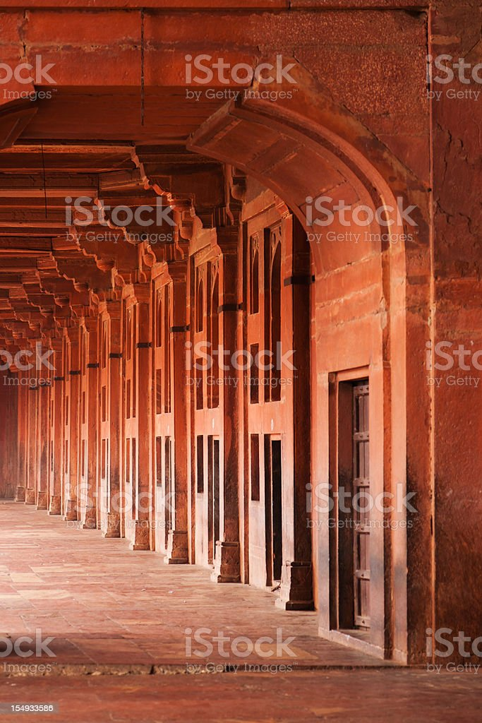 Fatehpur Sikri Walkway Architectural Detail royalty-free stock photo