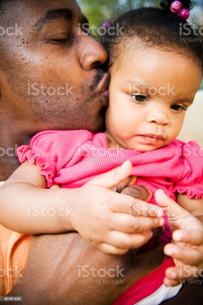fathed & daughter love stock photo