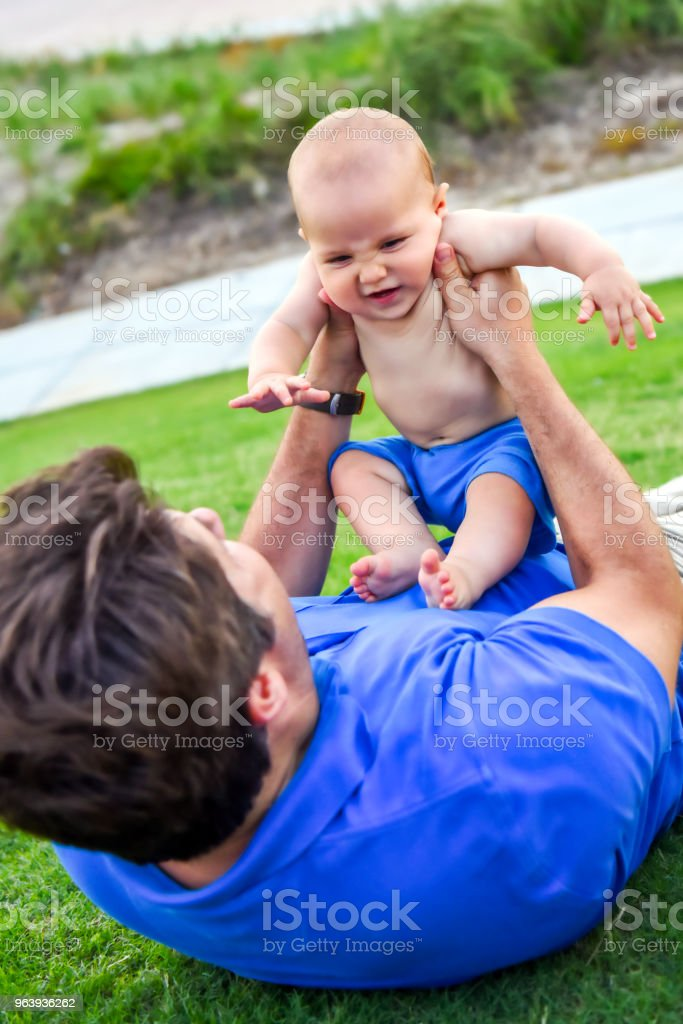 Father and baby son - Royalty-free 40-49 Years Stock Photo