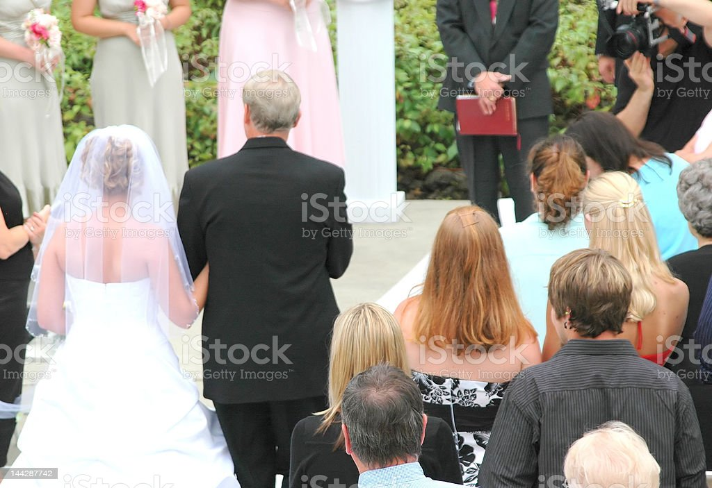 Father and Bride stock photo