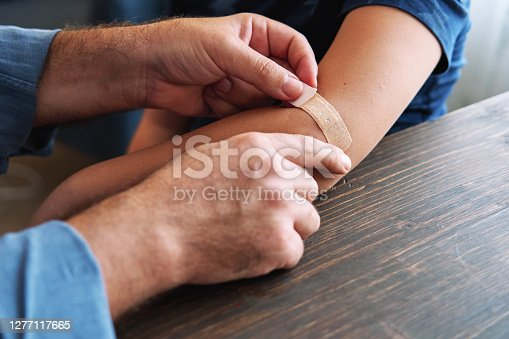 Father and child first aid