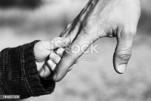istock Father and Child Holding Hands 184837026