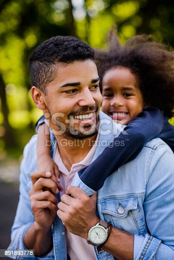 istock Father and daughte portrait. 891893778