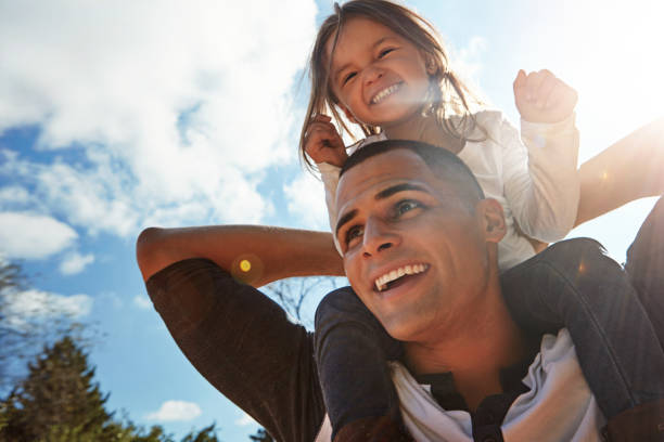 Father and daughter, best of friends forever stock photo
