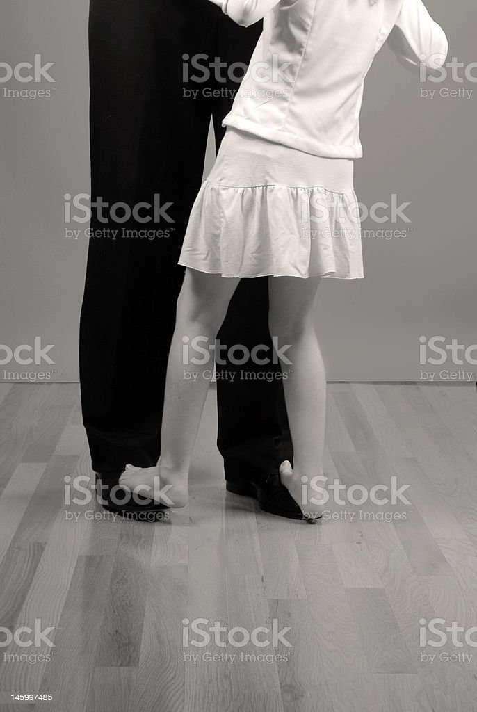 Father and Daughter Dancing stock photo