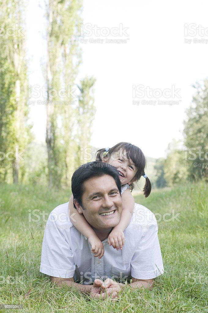 Father and daughter have fun royalty-free stock photo
