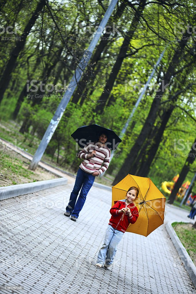 Father and daughter in park royalty-free stock photo