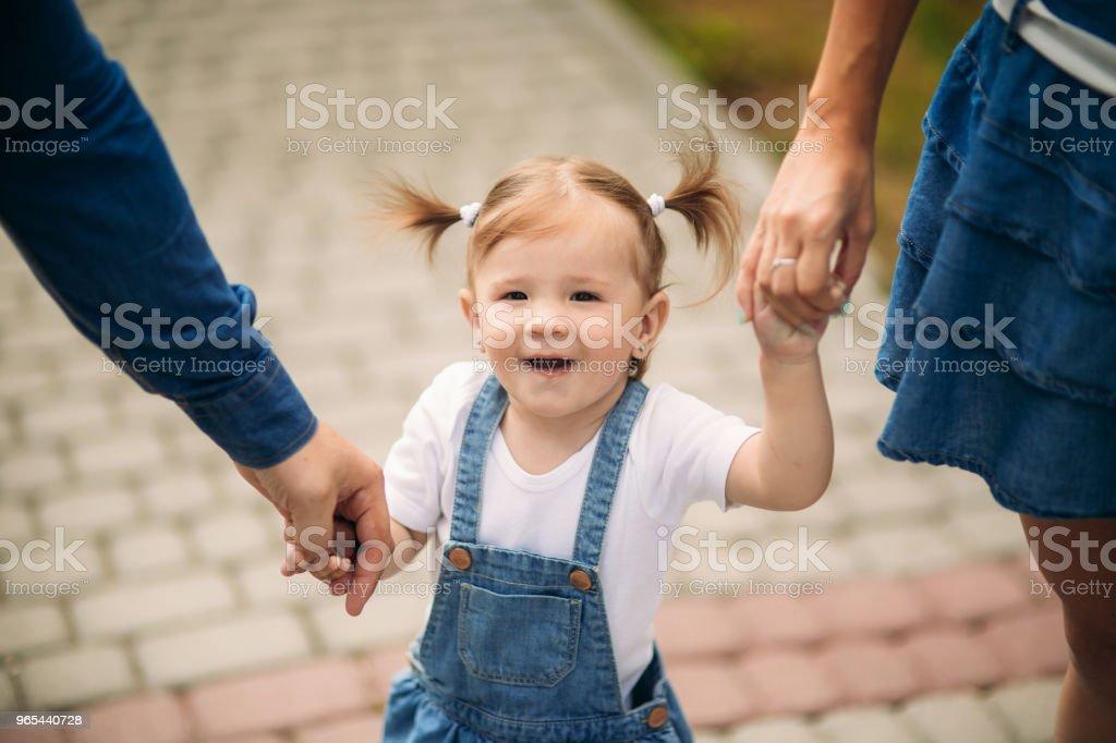 Père et fille dans le parc de l'été - Photo de Adulte libre de droits