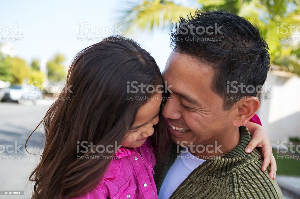 Father and daughter laughing royalty-free stock photo