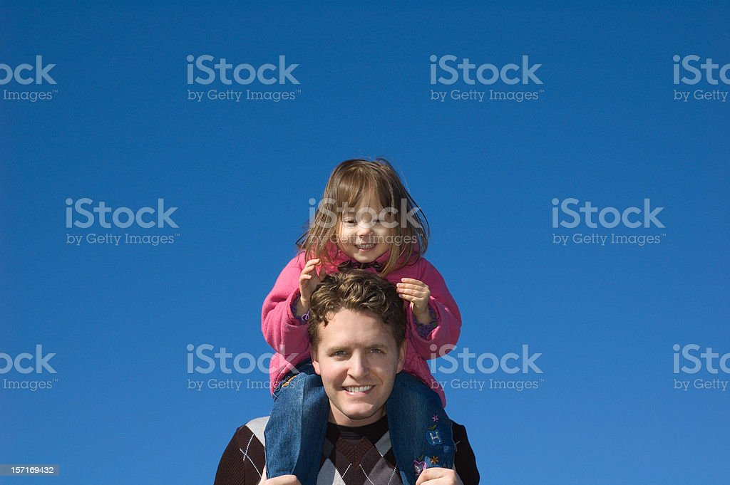 Father and Daughter Outdoors royalty-free stock photo