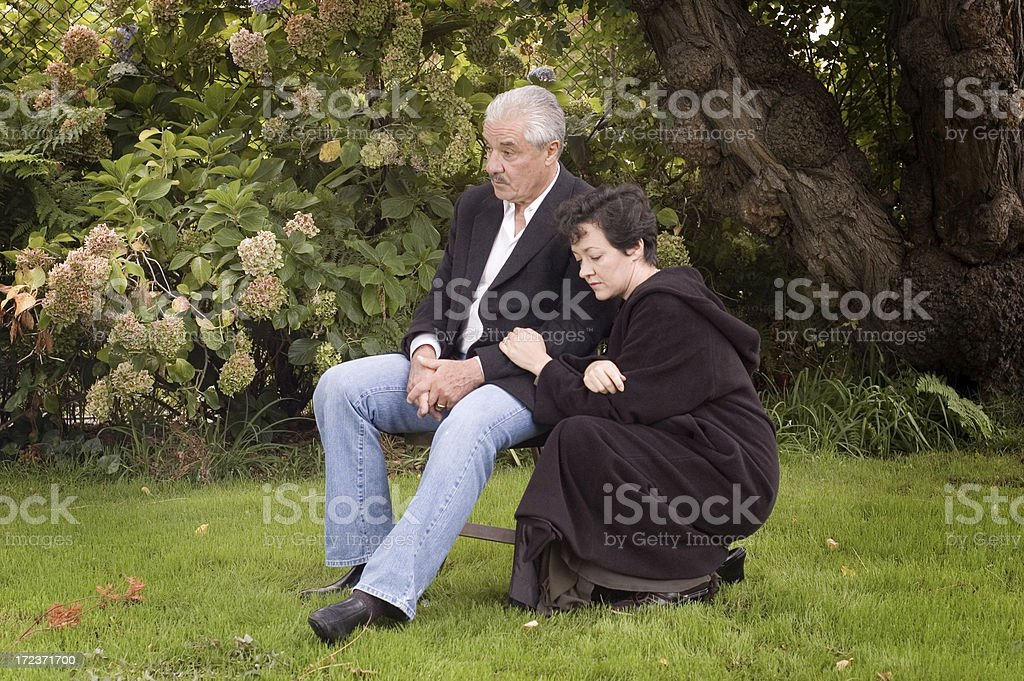 Father and Daughter (Grief series) royalty-free stock photo