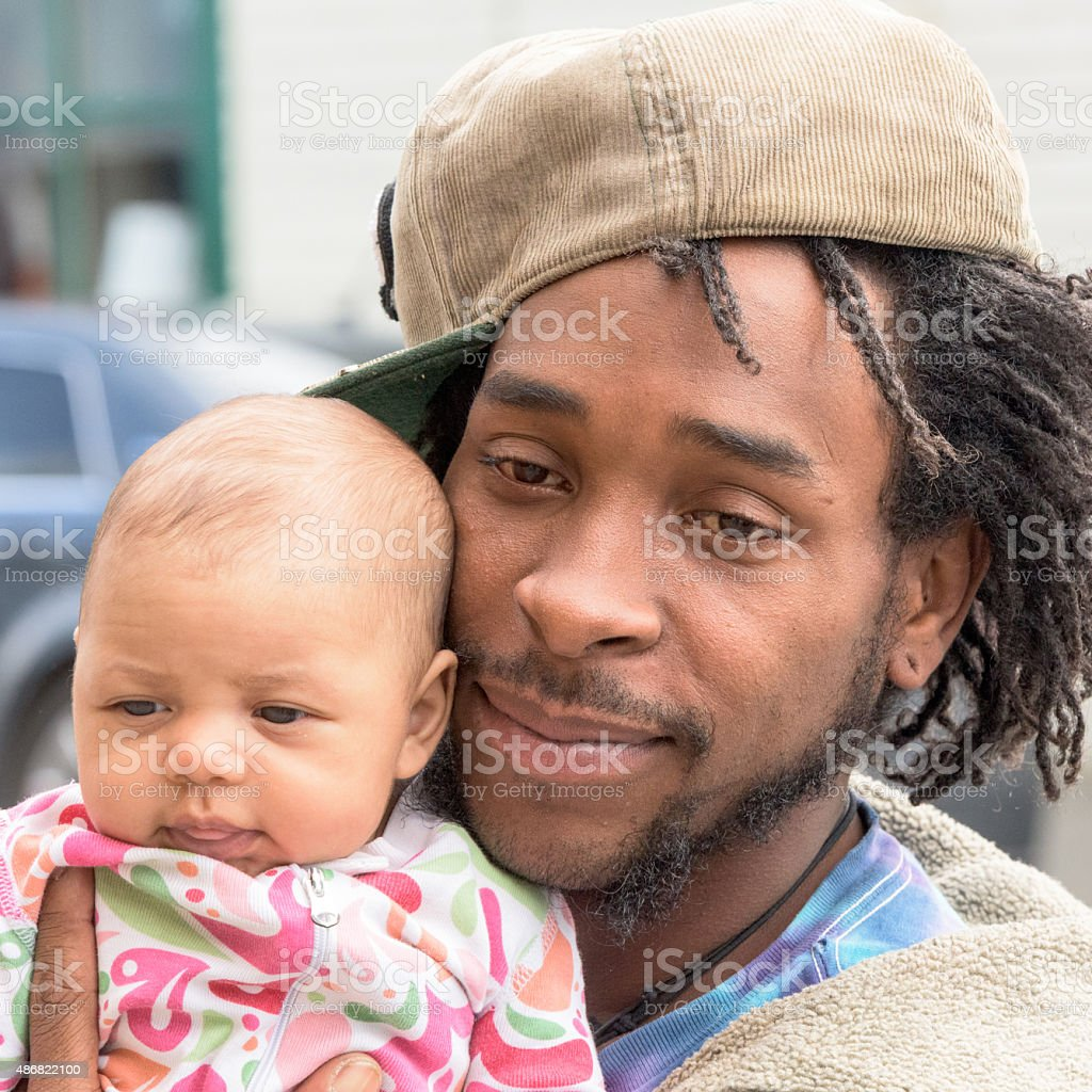 Father and Daughter (real people) stock photo