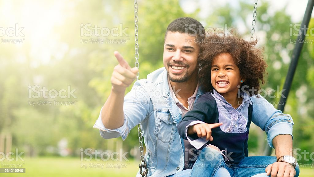 Father and daughter. stock photo