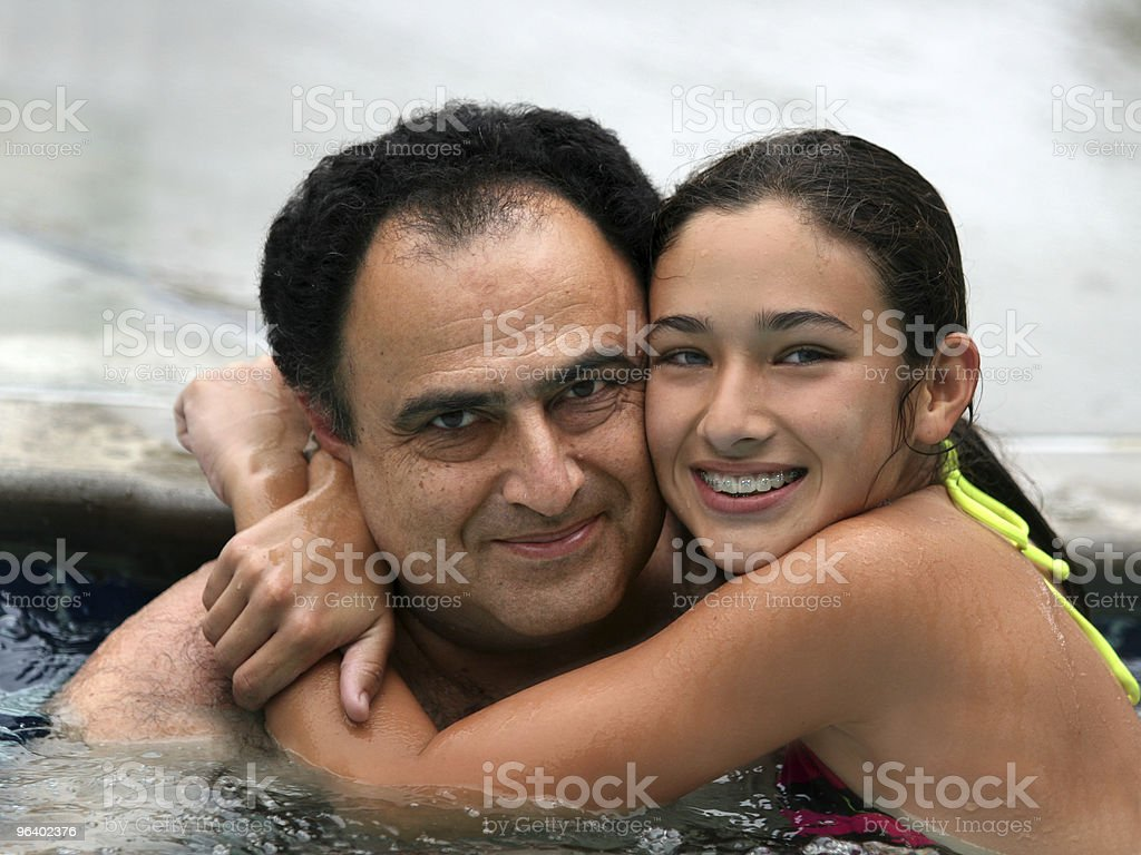 Father and daughter - Royalty-free Active Seniors Stock Photo