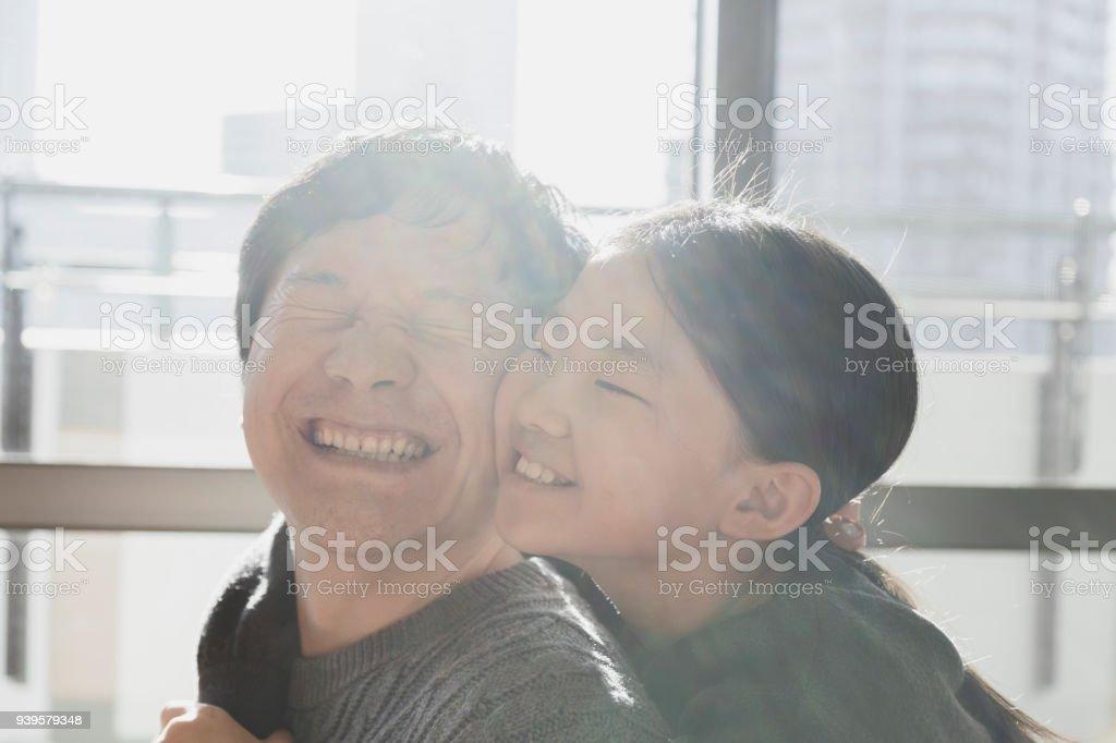 父と娘は家でゆっくり ストックフォト