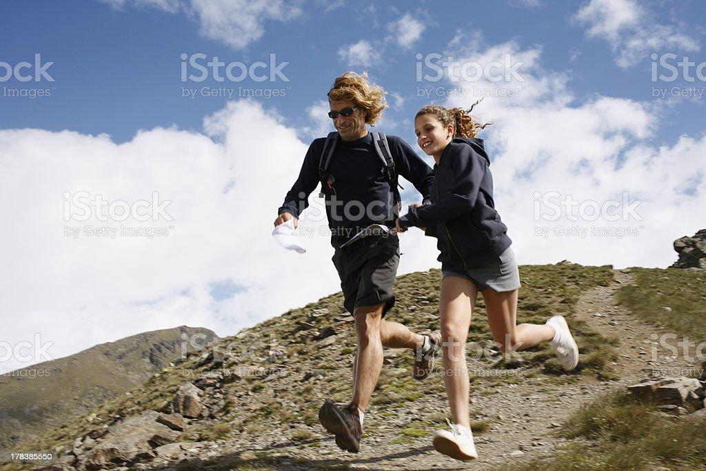 Vater und Tochter beim Ski – Foto