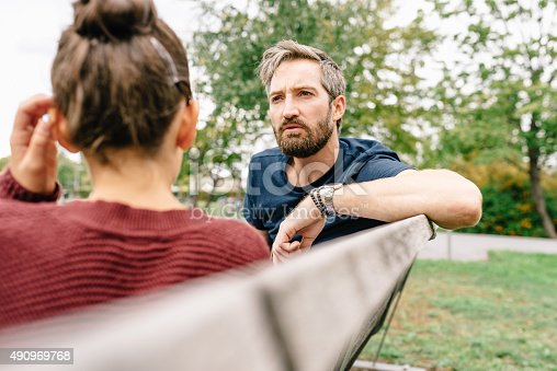 istock Father and Daughter talking 490969768