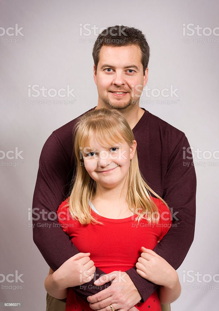 Father and daughter together stock photo