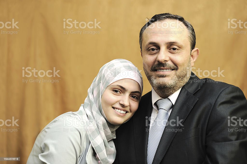 Father and daughter,loving stock photo
