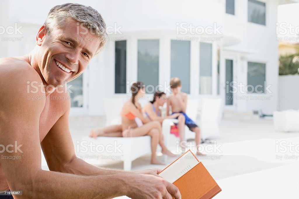Father and family on vacation royalty-free stock photo