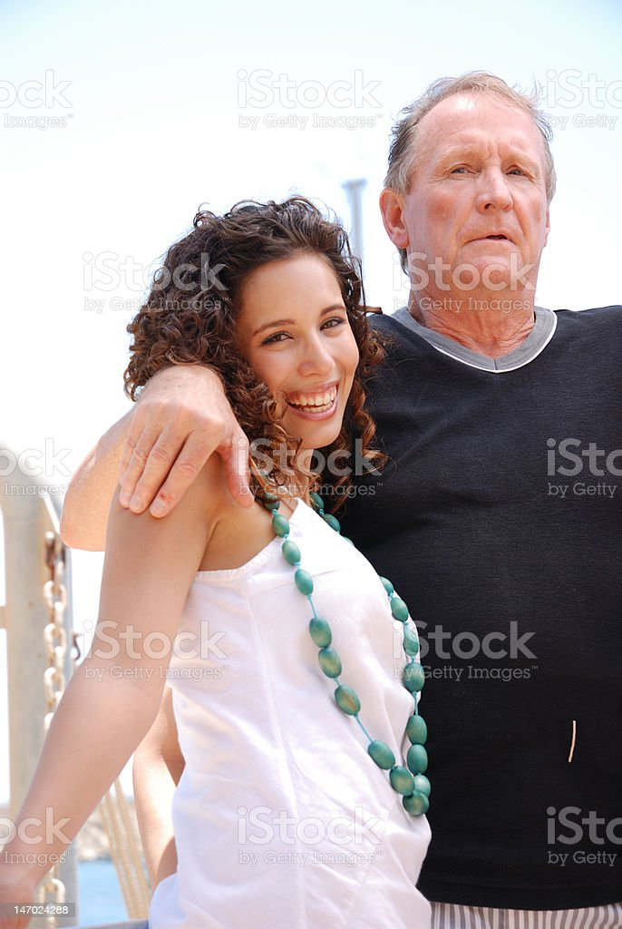 father and happy daughter royalty-free stock photo