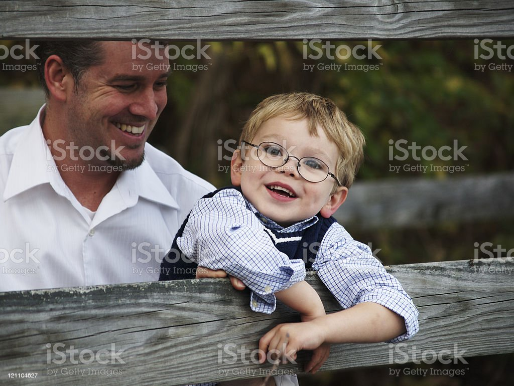 Father and His Son royalty-free stock photo