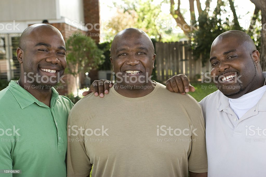 Father and his sons royalty-free stock photo