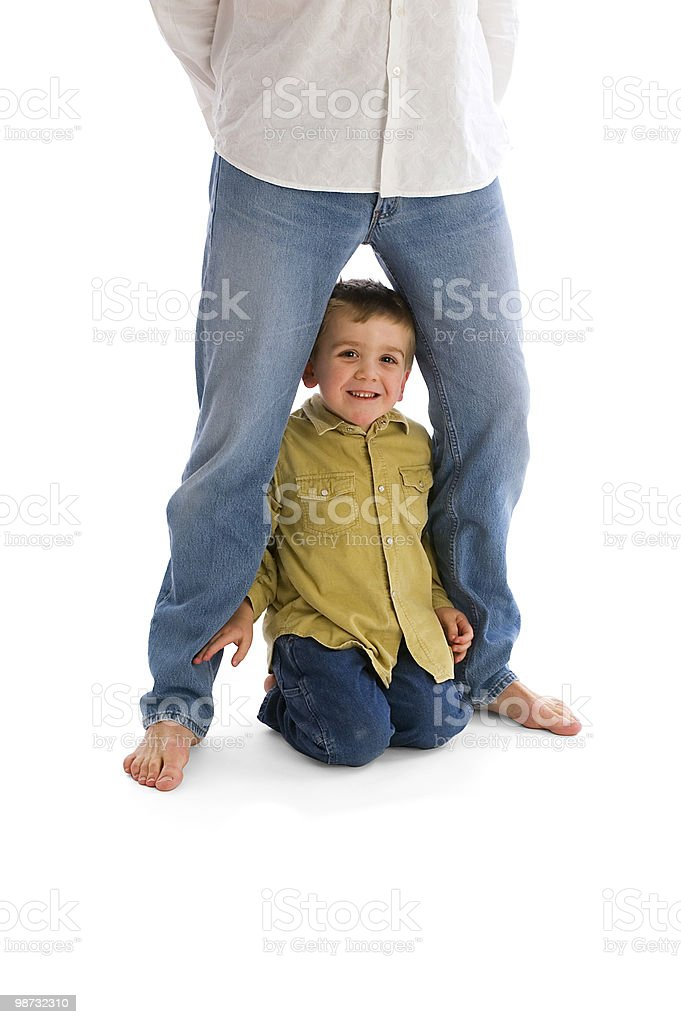 Father and son at play royalty-free stock photo