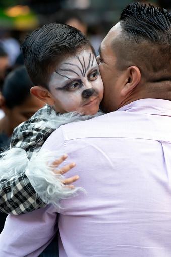 Father and Son at the Día de los Muertos Festival in Oaxaca