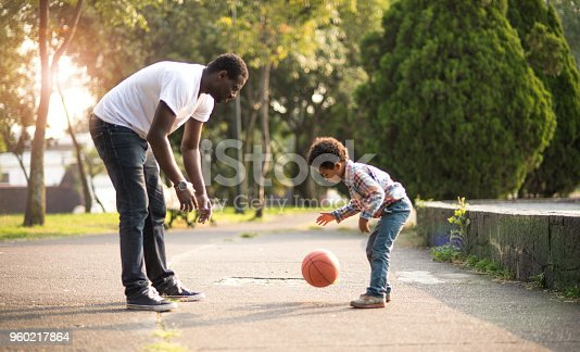 889172928istockphoto Father and son at the park. 960217864
