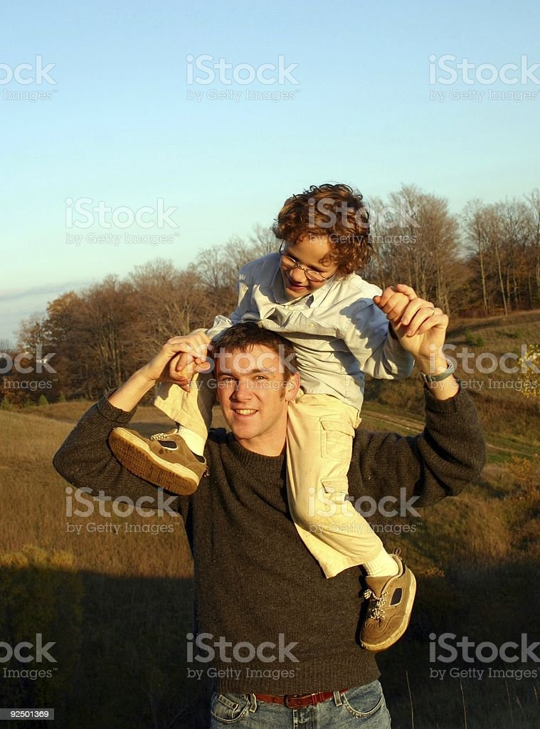 father and son bond royalty-free stock photo