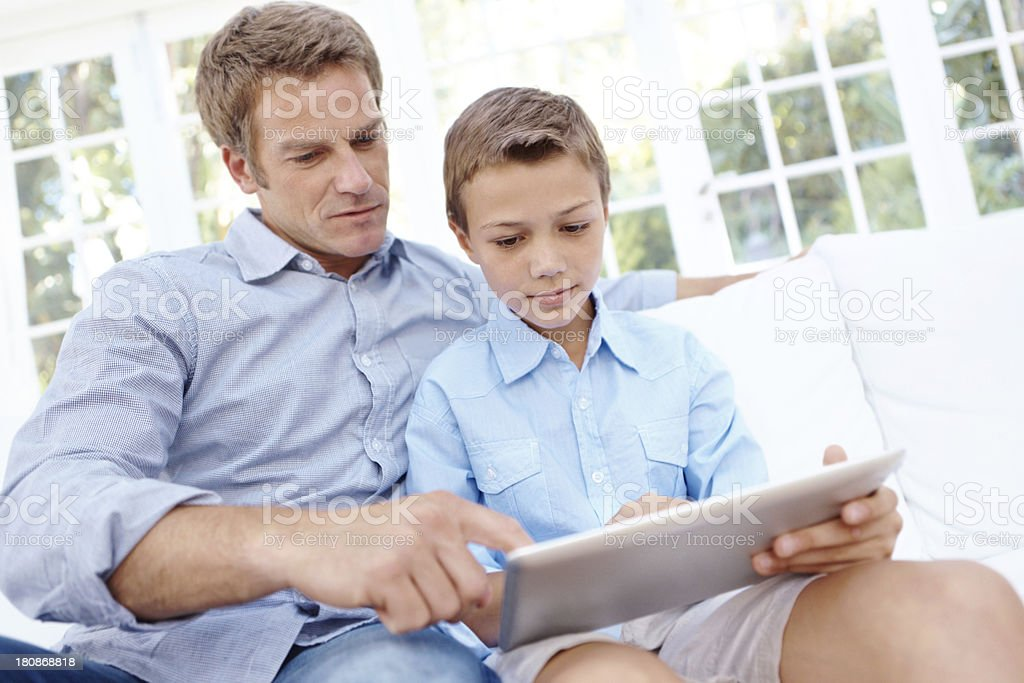 Father and son bonding time royalty-free stock photo