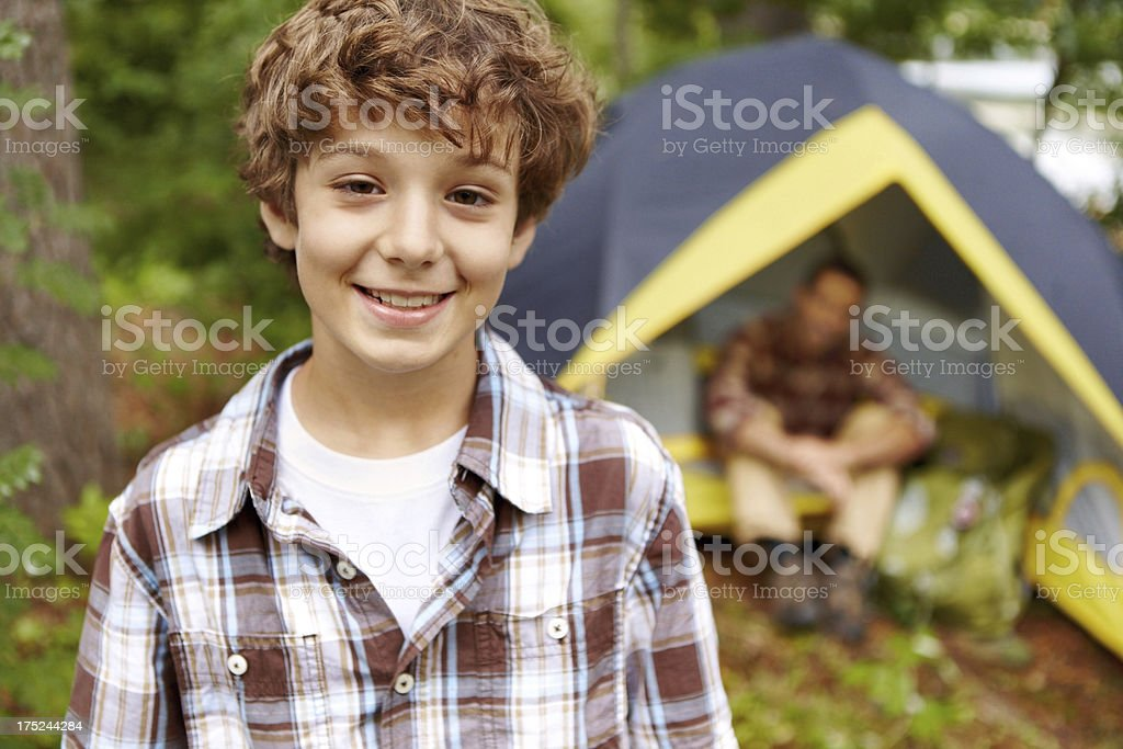 Father and son bonding weekend royalty-free stock photo