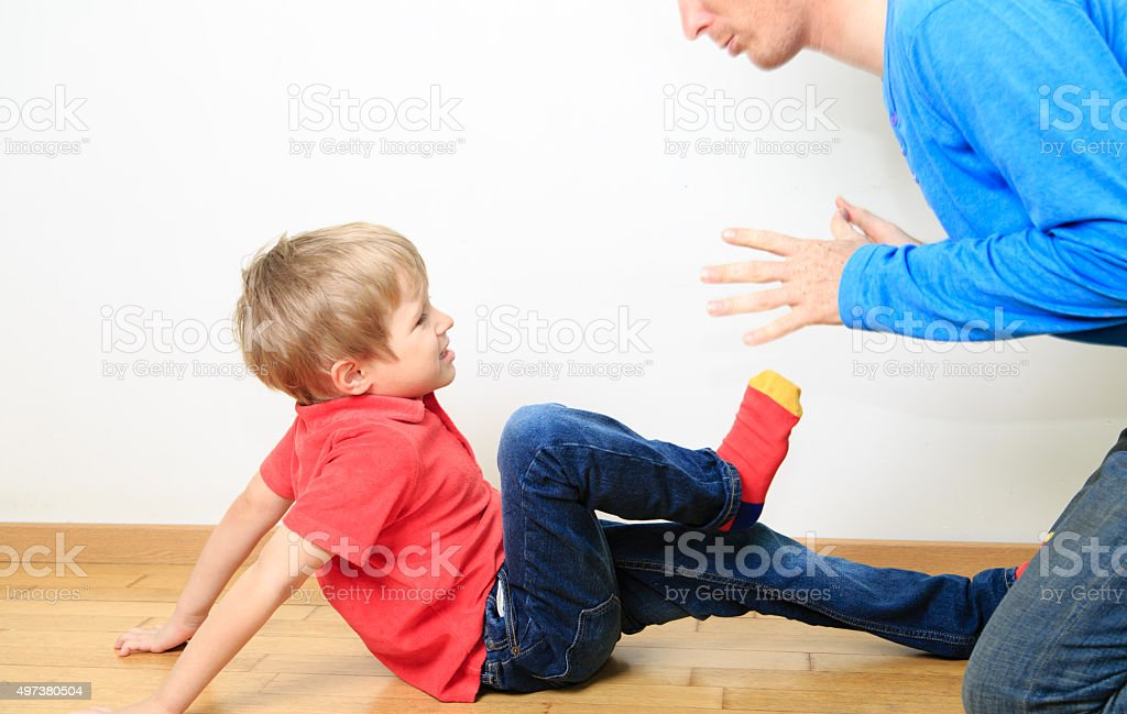 father and son conflict, family problems stock photo