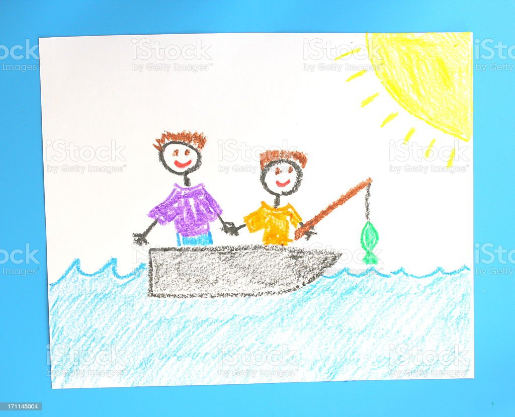 Father and Son Fishing Trip royalty-free stock photo