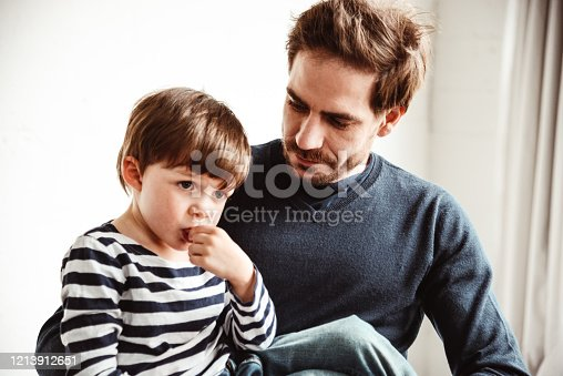 649431568 istock photo father and son have fun together 1213912651