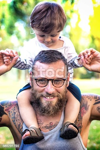 istock Father and Son having fun 585291794