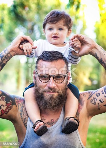 istock Father and Son having fun 585292070