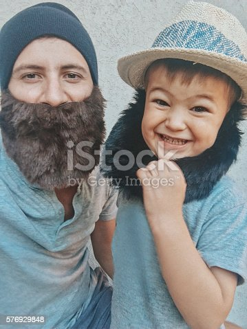 istock Father and son having fun together 576929848