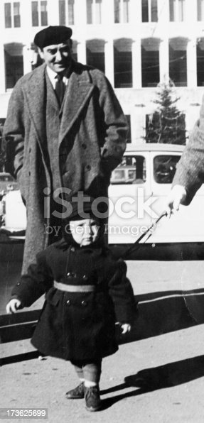 57520540 istock photo Father and son in 1950 173625699