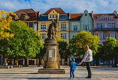 istock Father and son on the central square of Ostrava 1266605588