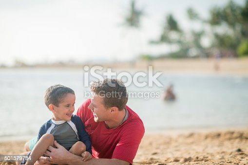 605742160 istock photo Father and Son on Vacation 501579784