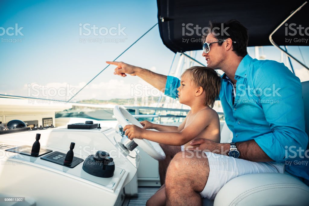 Father And Son On Vacations stock photo
