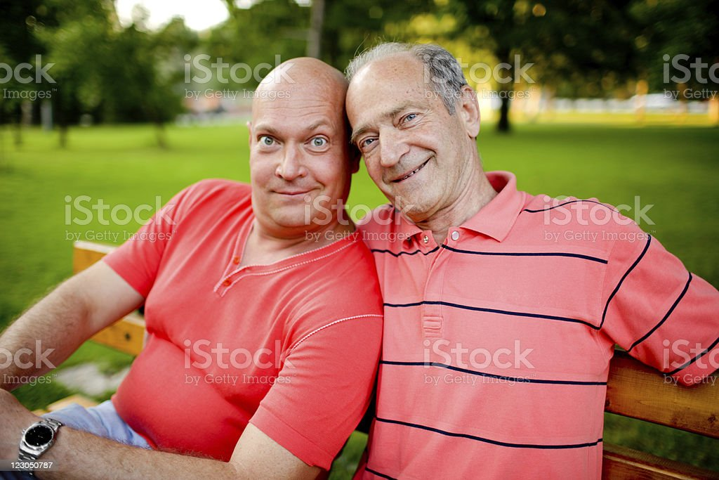 Father And Son Outdoors stock photo