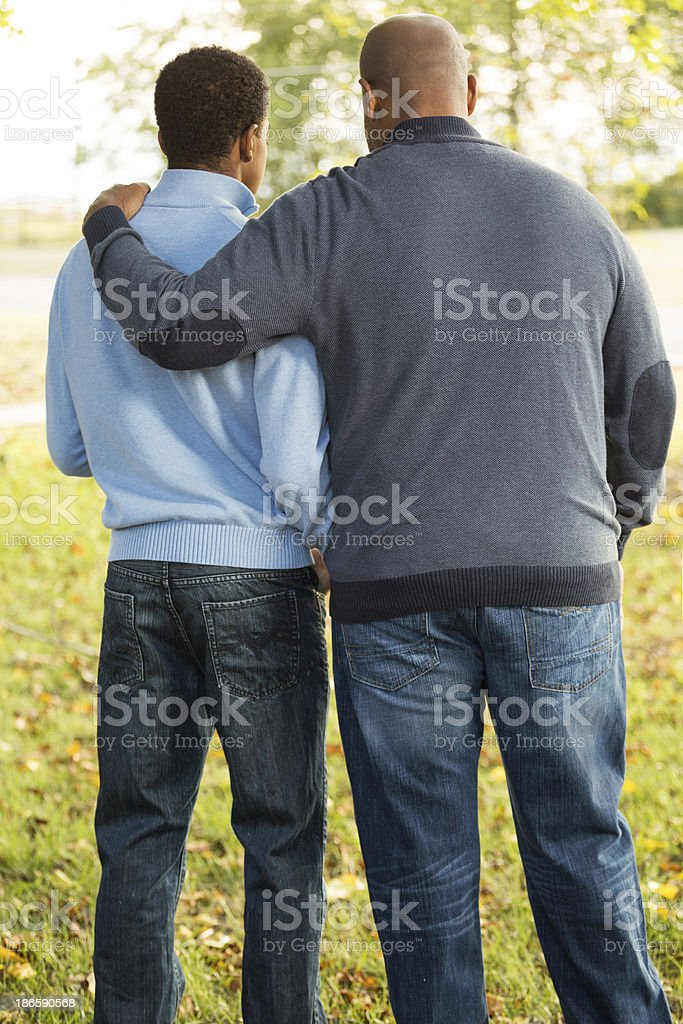 Father and son royalty-free stock photo